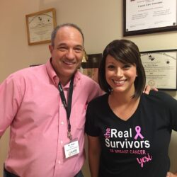 Yesenia and cCARE's Dr. Hager pose together after beating breast cancer | Fresno, CA