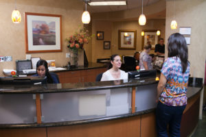appointment information | cCARE | San Diego & Fresno | Our appointment desk with staff