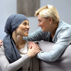 Woman comforting woman with cancer | cCARE | San Diego and Fresno, CA