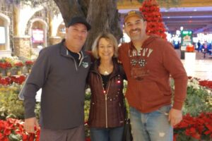 myeloma cancer survivor Ann and her two adult sons | cCARE | San Diego & Fresno, CA