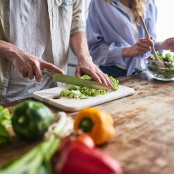 Couple making a healthy meal   Weight & Cancer   cCARE   San Diego and Fresno, CA