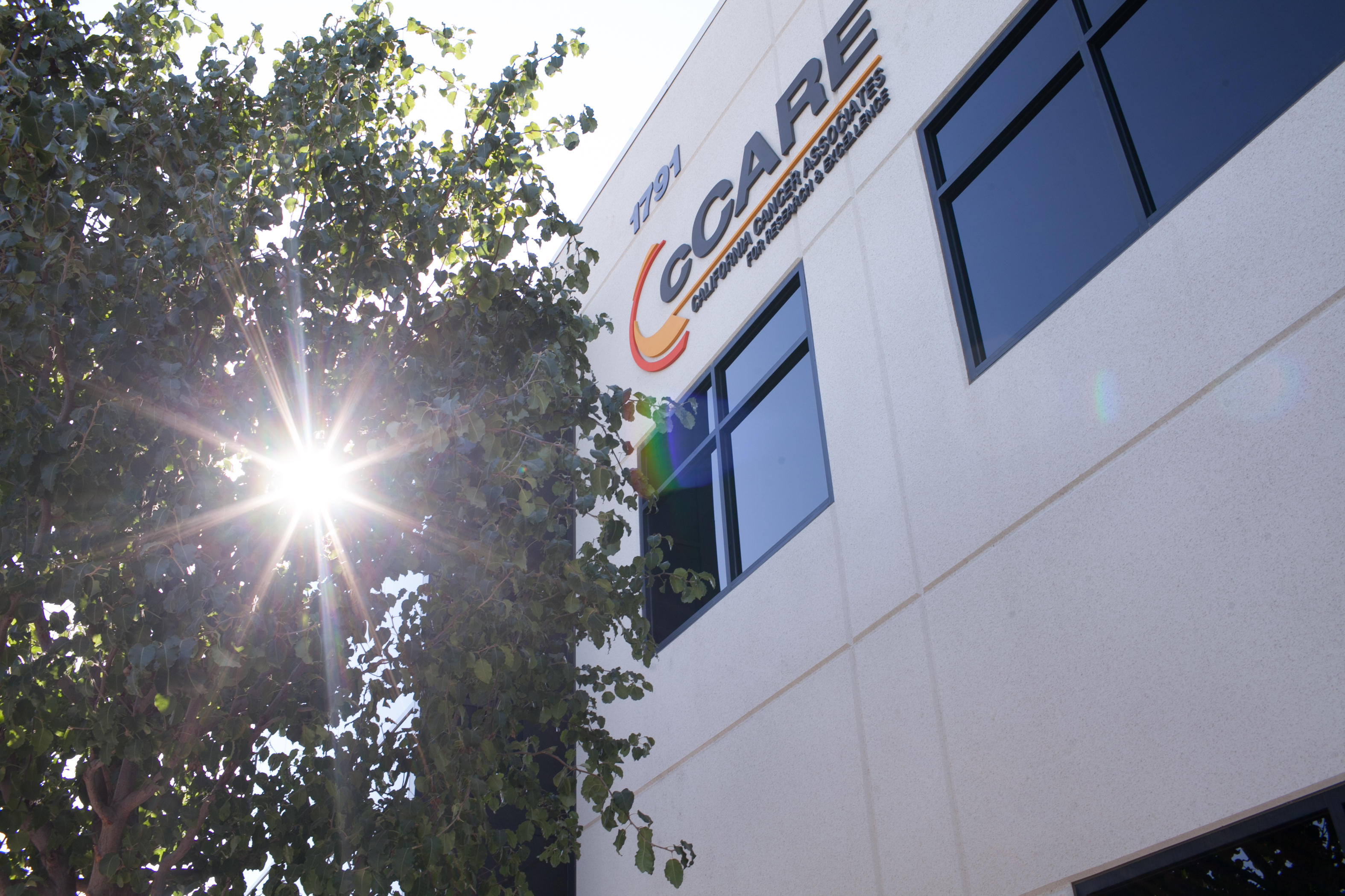 cancer center | cCARE | Fresno & San Diego | our building with the cCARE logo