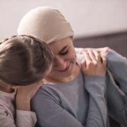 Child with mother learning about support for cancer patients | cCARE | San Diego and Fresno, CA